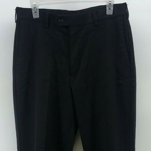 Mens Savane Black Dress Pants Size 32 X 30